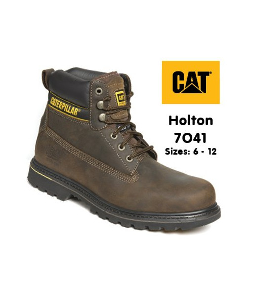 Caterpillar 7041 Holton Brown Leather Goodyear Welted Safety Boots