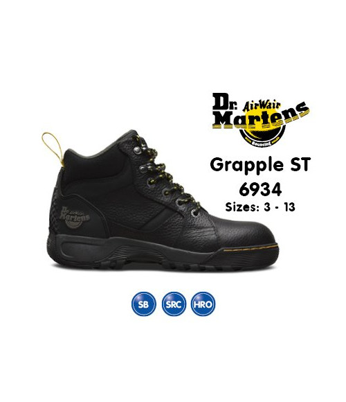 Dr Martens-Airwair 6934 Grapple Black Safety Boot
