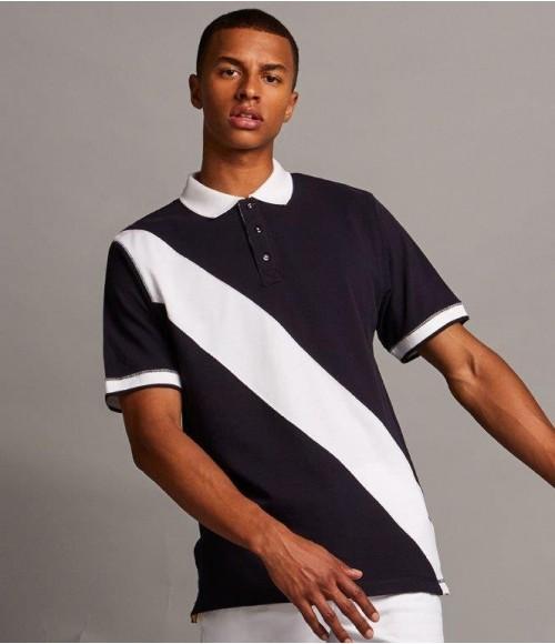 FR212 Front Row Diagonal Stripe Cotton Piqué Polo Shirt