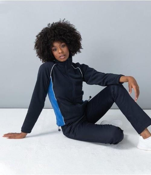 LV551 Finden and Hales Ladies Contrast Micro Fleece Jacket