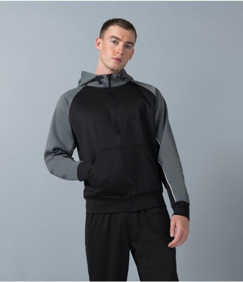 LV340 Finden and Hales Panelled Sports Hoodie