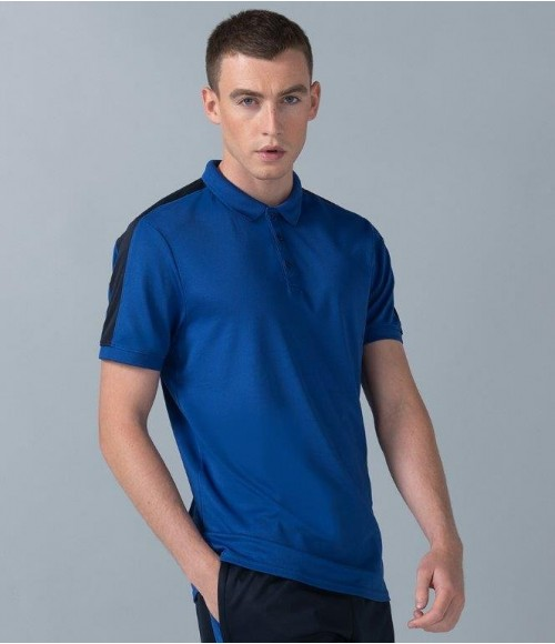 LV381 Finden and Hales Unisex Contrast Panel pique Polo Shirt