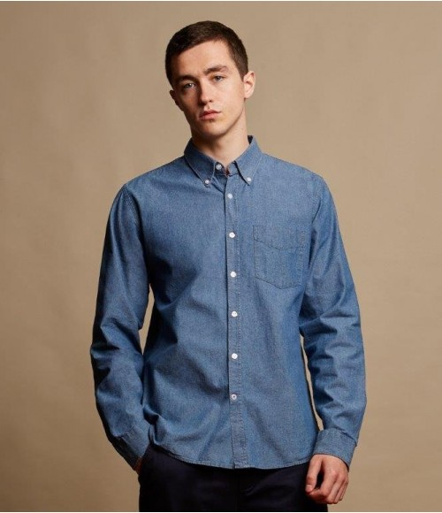 FR501Front Row Classic Long Sleeve Chambray Shirt