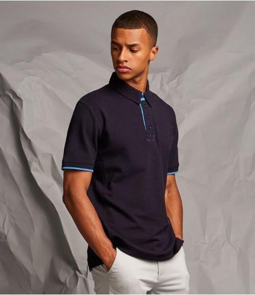 FR200 Front Row Contrast Cotton Piqué Polo Shirt