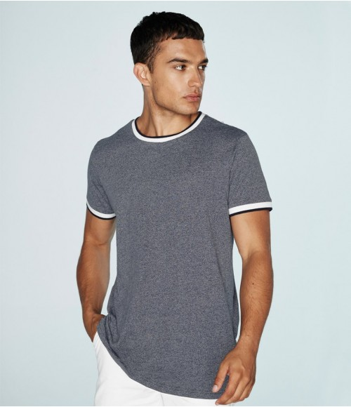FR131 Front Row Contrast Tipped T-Shirt
