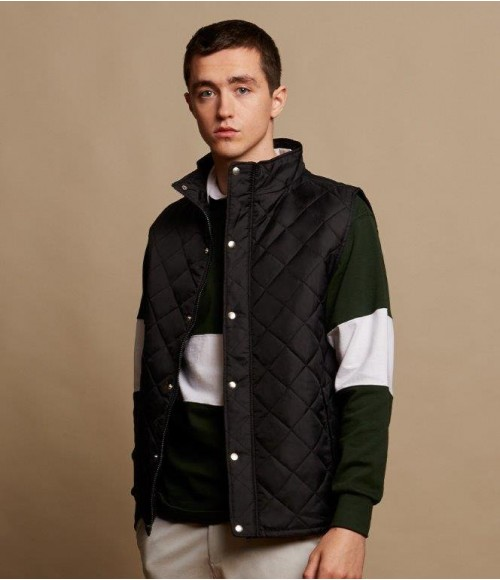 FR903 Front Row Diamond Quilted Gilet