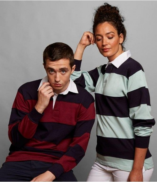 FR8 Front Row Sewn Stripe Rugby Shirt