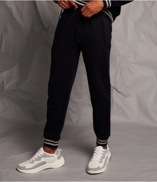 FR640 Front Row Unisex Striped Cuff Joggers