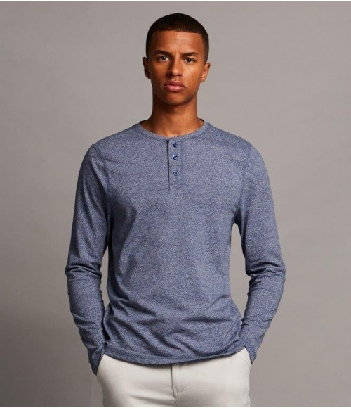 FR130 Front Row Washed Long Sleeve Henley T-Shirt