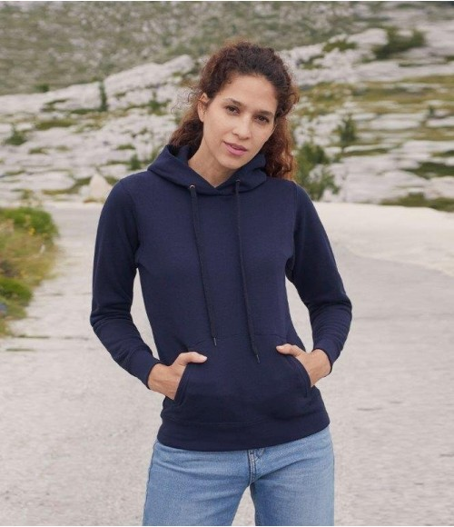 SS801 Fruit of the Loom Classic Lady Fit Hooded Sweatshirt