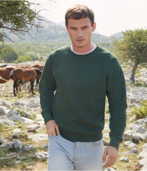 SS8 Fruit of the Loom Classic Raglan Sweatshirt