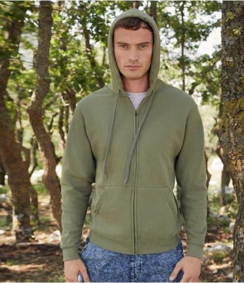 SS16 Fruit of the Loom Classic Zip Hooded Sweatshirt