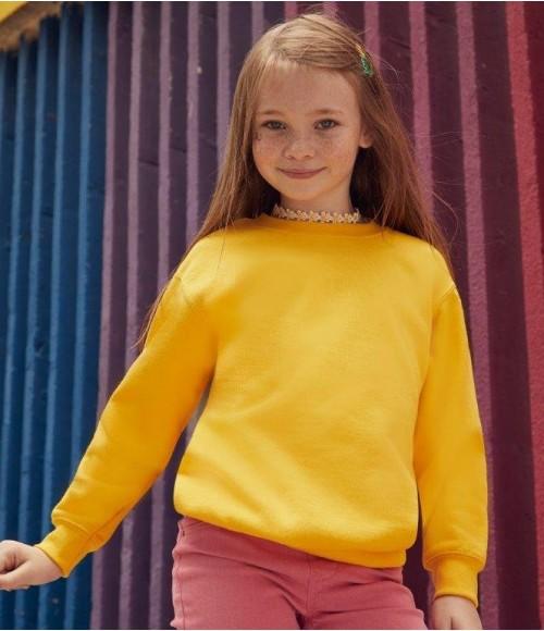 SS9b Fruit of the Loom Kids Classic Drop Shoulder Sweatshirt