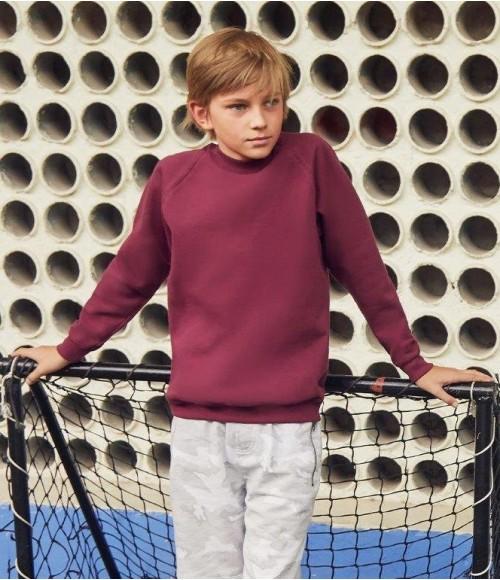 SS8B Fruit of the Loom Kids Classic Raglan Sweatshirt