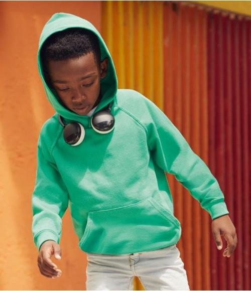 SS121B Fruit of the Loom Kids Lightweight Hooded Sweatshirt