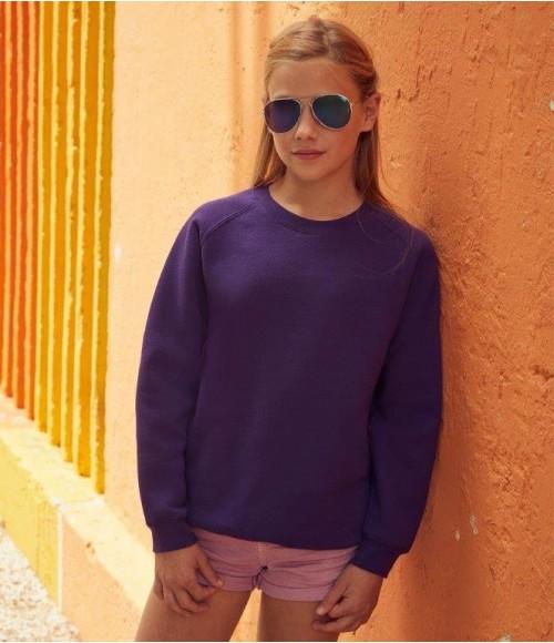 SSE8B Fruit of the Loom Kids Premium Raglan Sweatshirt