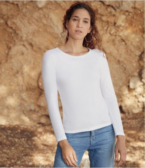 SS708 Fruit of the Loom Lady Fit Value Long Sleeve T-Shirt