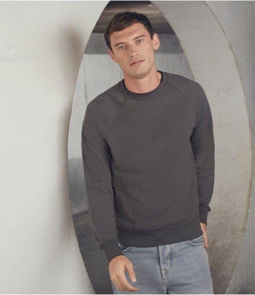 SS120 Fruit of the Loom Lightweight Raglan Sweatshirt