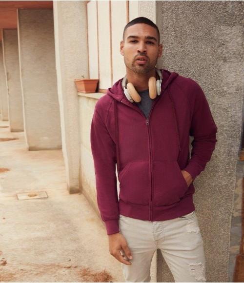 SS122 Fruit of the Loom Lightweight Zip Hooded Sweatshirt