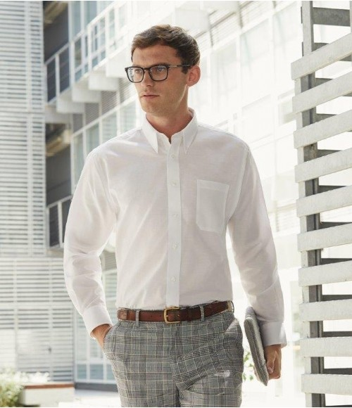 SS402 Fruit of the Loom Long Sleeve Oxford Shirt