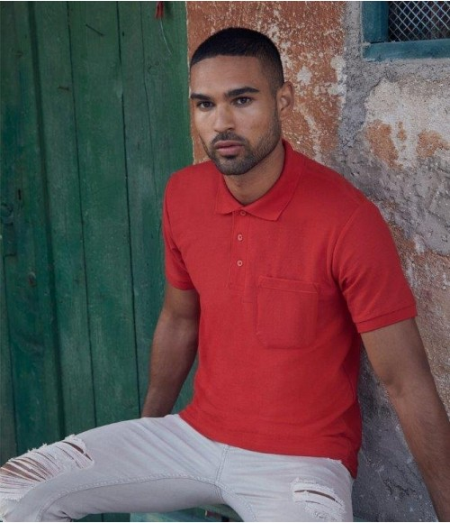 SS23 Fruit of the Loom Pocket Pique Polo Shirt