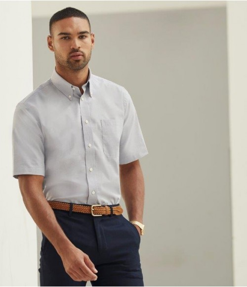 SS401 Fruit of the Loom Short Sleeve Oxford Shirt