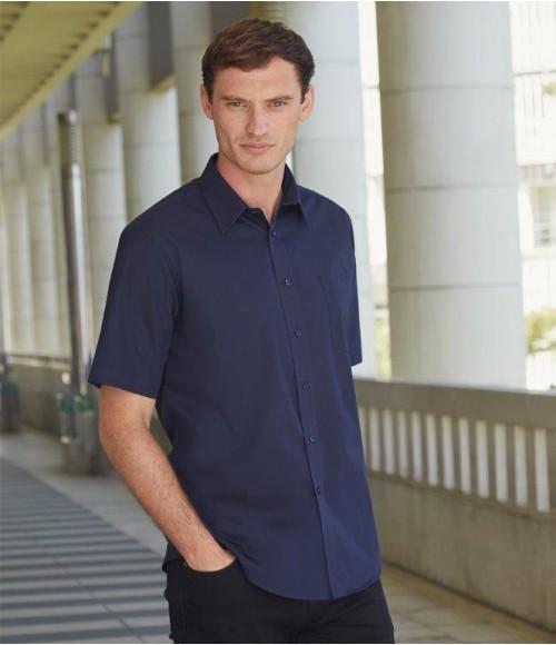 SS411 Fruit of the Loom Short Sleeve Poplin Shirt