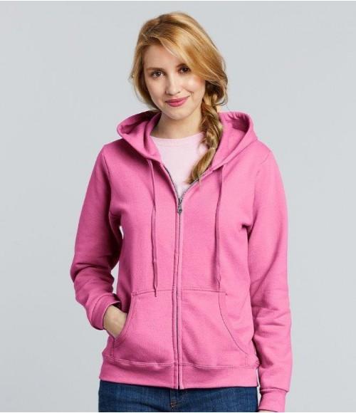 GD80 Gildan Heavy Blend Ladies Zip Hooded Sweatshirt