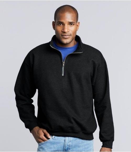 GD61 Gildan Heavy Blend Vintage Zip Neck Sweatshirt