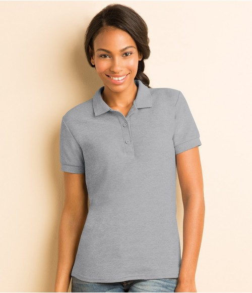 GD73 Gildan Ladies Premium Cotton Double Pique Polo Shirt