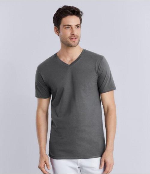 GD09 Gildan Premium Cotton® V Neck T-Shirt