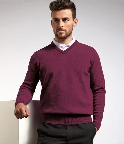 GM10 Glenmuir V Neck Lambswool Sweater