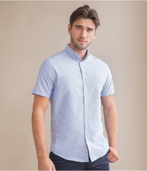 H517S Henbury Modern Short Sleeve Slim Fit Oxford Shirt