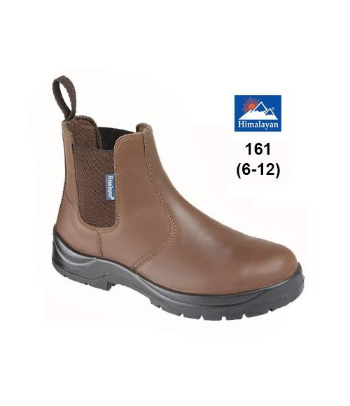 161 HIMALAYAN Brown Leather Dealer Safety Boot