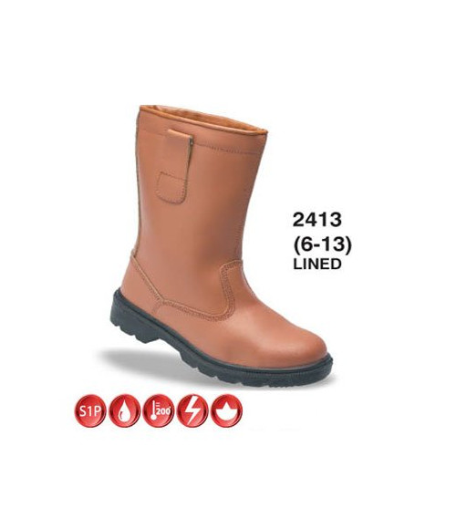 Himalayan 2413 Tan Leather Rigger Safety Boots