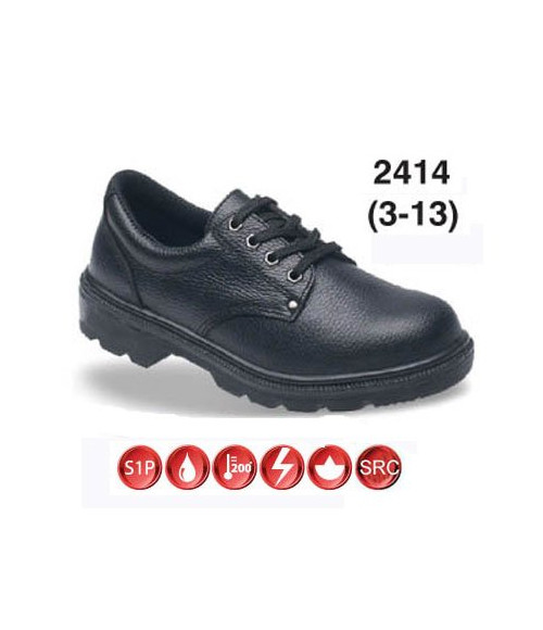 Himalayan 2414 Black Leather Safety Shoes