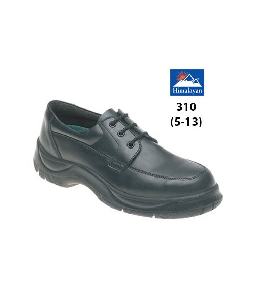 Himalayan 310 Black Leather Safety Shoes - Extra Wide Fit