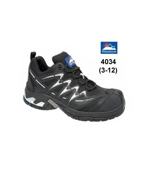 Himalayan 4033 Black, Grey and Blue Safety Trainers - Metal Free