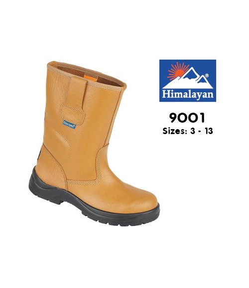 Himalayan 9001 Tan Leather Safety Rigger Boots - Unlined with Steel Midsole
