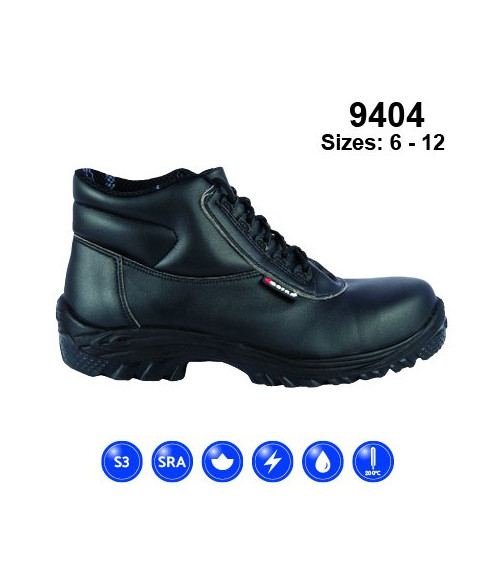 Himalayan 9404 Black Lorica Safety Boots - Dual Density Sole & Midsole