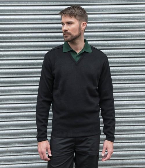 RX200- PRO RTX Pro Acrylic V Neck Sweater