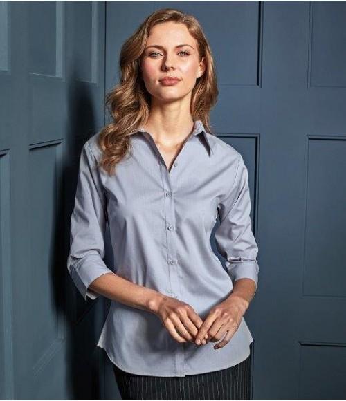 PR305 Premier Ladies 3/4 Sleeve Poplin Blouse