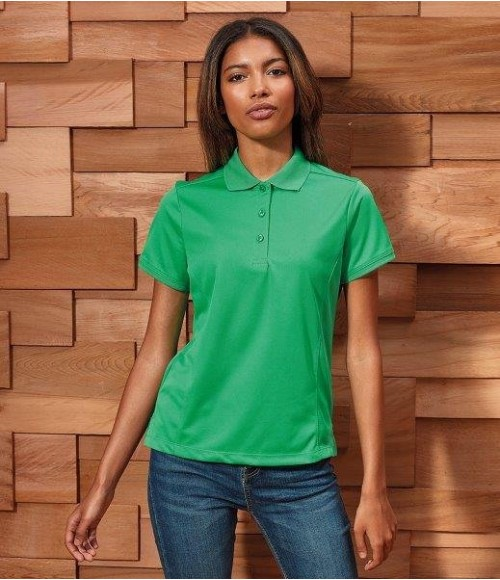 PR616 Premier Ladies Coolchecker Pique Polo Shirt