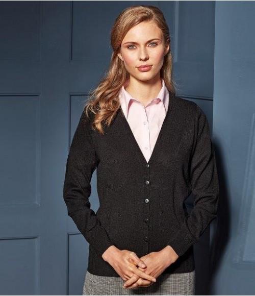 PR402 Premier Ladies Essential Acrylic V Neck Cardigan