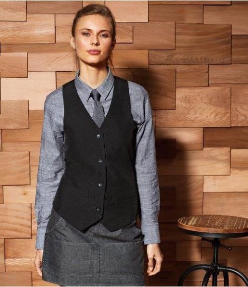PR623 Premier Ladies Lined Waistcoat