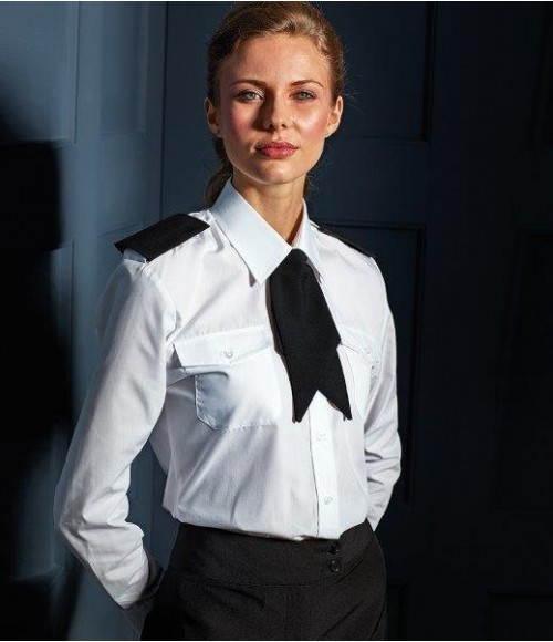 PR310 Premier Ladies Long Sleeve Pilot Shirt