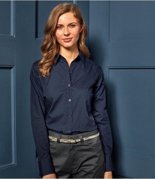 PR300 Premier Ladies Long Sleeve Poplin Blouse