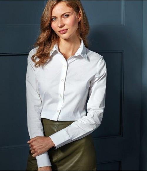 PR344 Premier Ladies Long Sleeve Stretch Fit Poplin Shirt