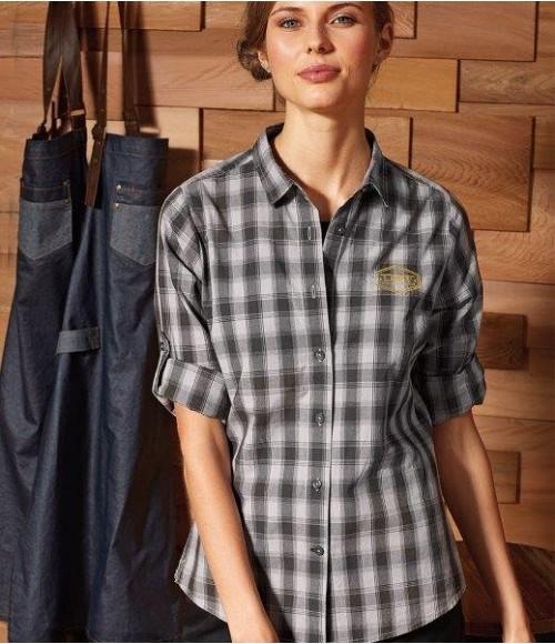 PR350 Premier Ladies Mulligan Check Long Sleeve Shirt