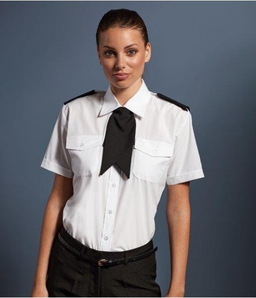PR312 Premier Ladies Short Sleeve Pilot Shirt